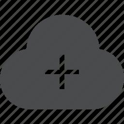 add, cloud, create, new icon
