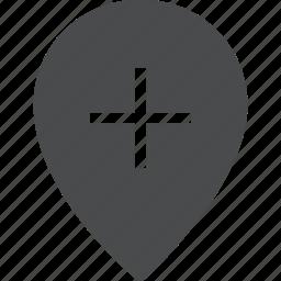 add, location icon