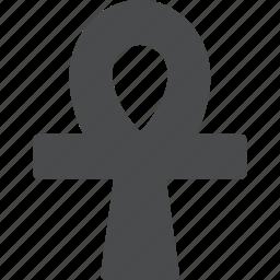 ankh, christianity, cross, egypt, religion icon