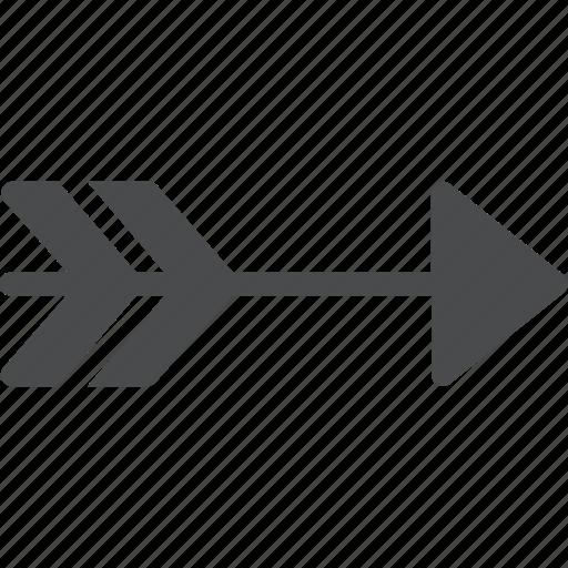 aim, arrow, right icon