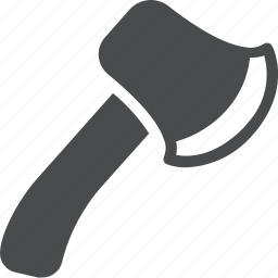 axe, hatchet, outdoors, tool, weapon, wood icon