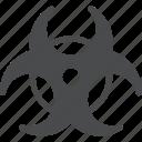biohazard, caution, hazard, nuclear, radiation, toxic, warning