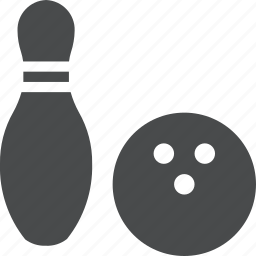 activity, alley, bowl, bowling, hobby, pin icon
