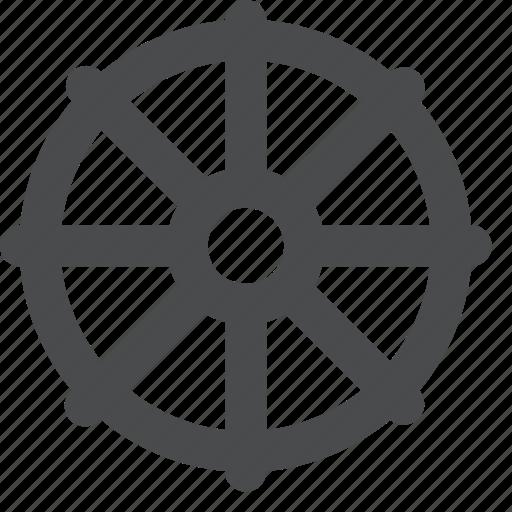 buddhism, buddhist, dharma, ship, steer, wheel icon