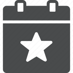 appointment, calendar, event, planned, star, starred icon