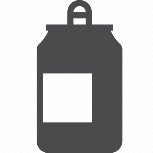 aluminum, beer, can, drink, recycle, trash icon