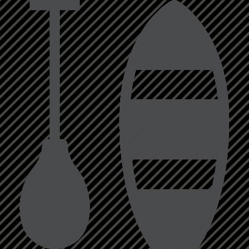boat, boating, canoeing, kayak, paddle, rowboat, sea icon