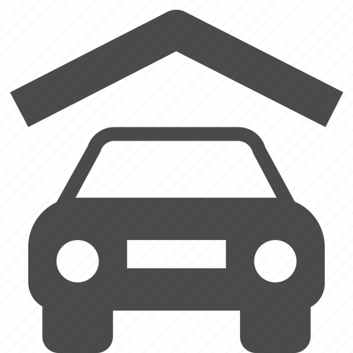 car, covered, garage, parking, port icon