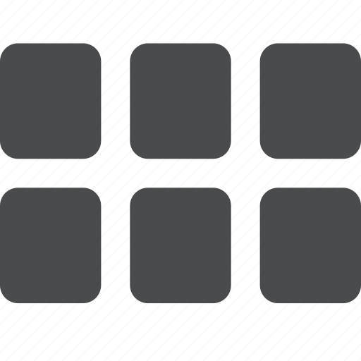 apps, categories, grid, layout, sorting, template, wireframe icon
