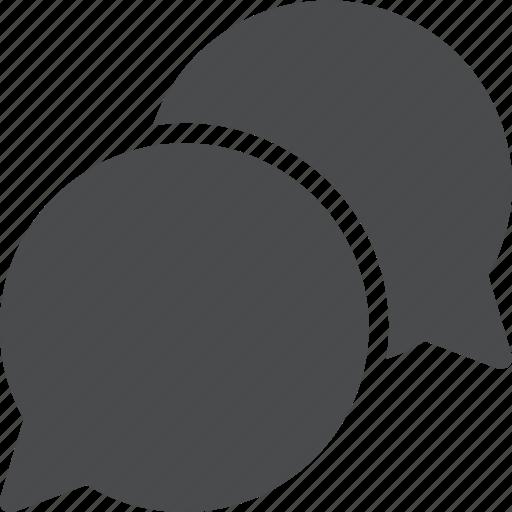 bubbles, chat, communication, conversation, dialogue, interaction icon