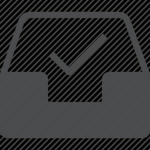 checkmark, clean, empty, inbox, read icon