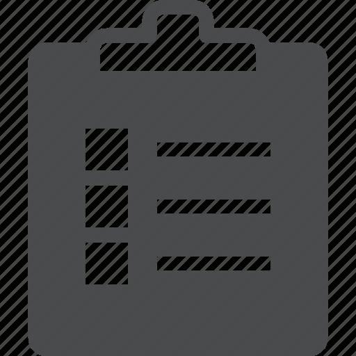 checklist, clipboard, list, record, report, to do icon