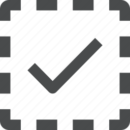 checkmark, checkmarked, select, selection icon
