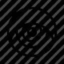 eye, eyeball, eyesight, glimmers, ios, optical, vision icon
