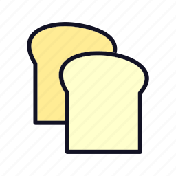 bakery, bread, breakfast, cooking, food, fruit, wheat icon