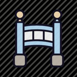 bridge, cold, fast, fruit, road, sign, traffic icon