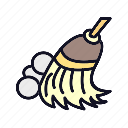 broom, cleaner, cleaning, rest, shower, sweeping, wash icon