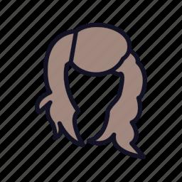 brunetle-head, brunette, face, female, head, user, woman icon