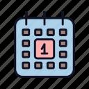 calendar, date, day, event, month, schedule, valentine icon
