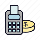 buy, cash, cash-register, coin, dollar, payment, register icon