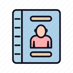 adress, adress-book, book, contacts, knowledge, library, telephone icon
