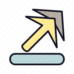 arrow, arrow-up-right, next, right, sign, up, upload icon