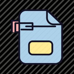 attach, attachment, attack, case, clip, paper, sheet icon