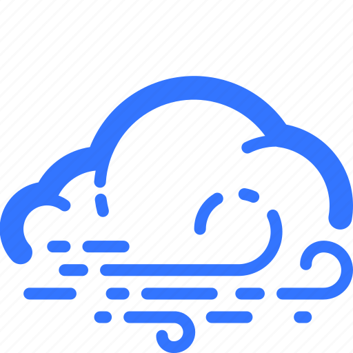 cloud, cloudy, dull, murky, weather, wind, windy icon