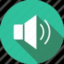 loud, music, on, sound, speaker, volume