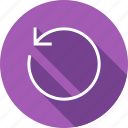 arrow, back, before, circle, circular, rewind icon