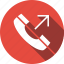 mobile, phone, outgoing, call icon