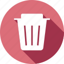 delete, dustbin, empty, recycle, recycling, remove, trash icon
