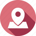 gps, location, map, navigation, pin, place icon