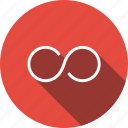 endless, eternity, infinity, loop, mathematical, maths, shows icon