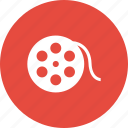 bobbin, film, movie, multimedia, reel icon