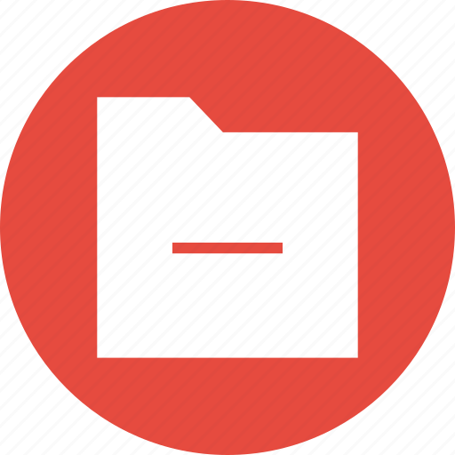 Delete, exit, folder, minus, remove icon - Download on Iconfinder