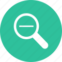 detective, glass, magnifier, magnifying, out, search, zoom icon