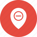 direction, gps, location, map, pin, remove