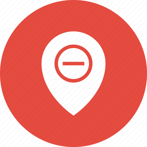 direction, gps, location, map, pin, remove icon