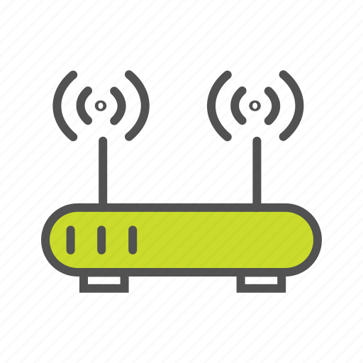 home network, hub, internet, iot, router, wifi icon