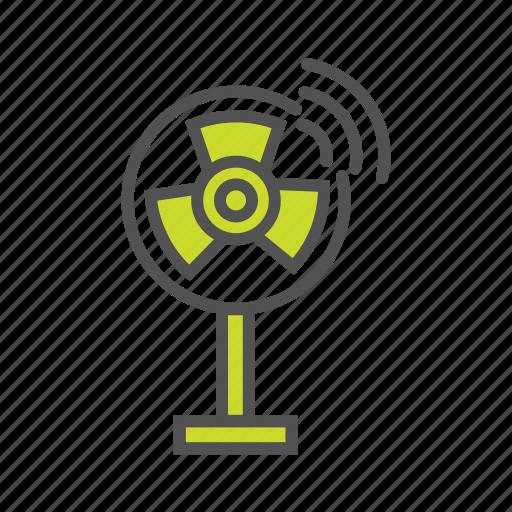 internet of things, iot, pedestal fan, smart fan, smart home, wi-fi enabled fan icon