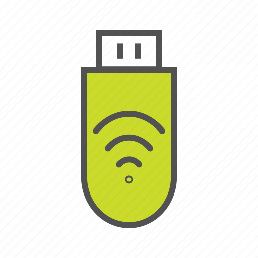 data, memory stick, portable storage, portable wifi, wireless device icon