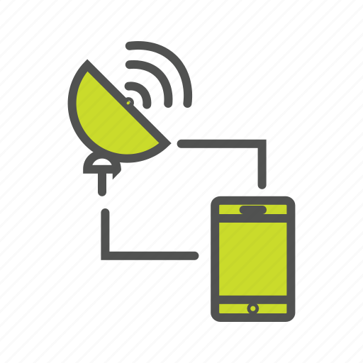 dish, internet, internet of things, iot, mobile communication, mobile network icon