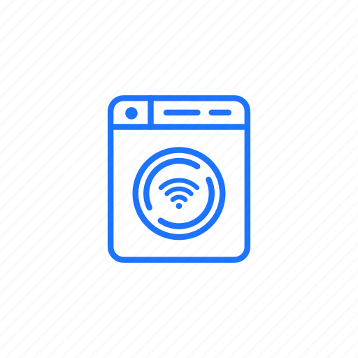 connected, iot, machine, smart, washing, wifi icon