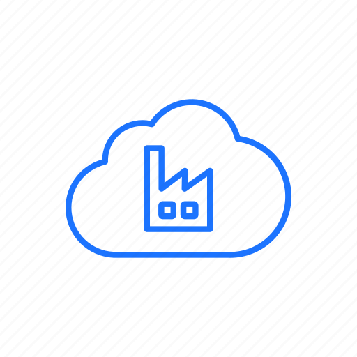cloud, digital, digitization, factory, storage icon