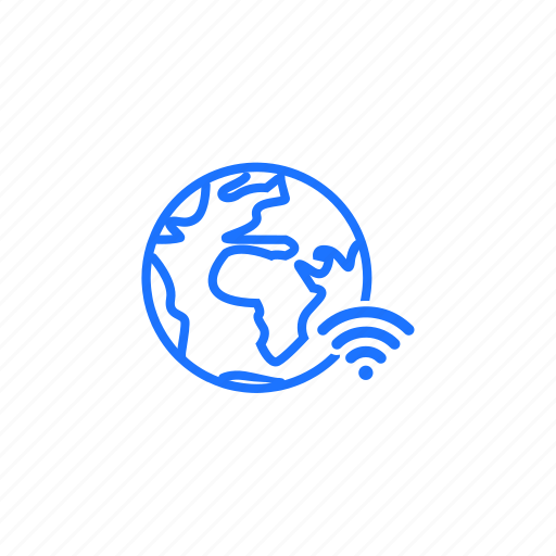 connection, global, internet, network, signal icon