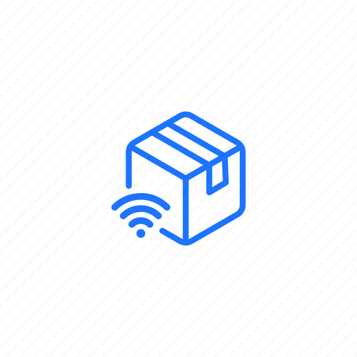 delivery, iot, parcel, signal, tracking icon
