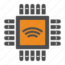chip, internet, internet of things, iot, wifi icon