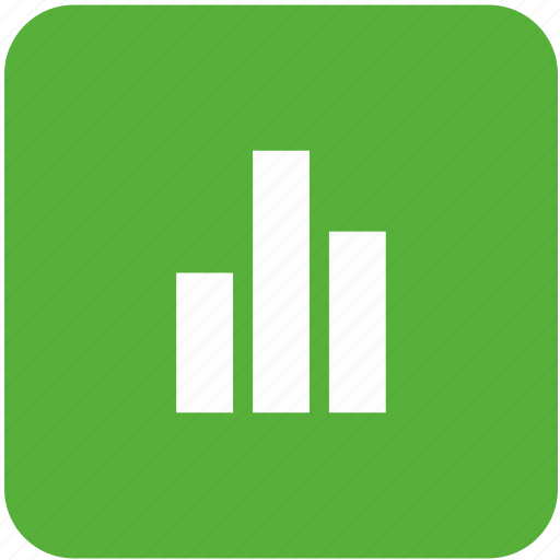 chart, economic, graphic, green, metric, mobile, statistics icon