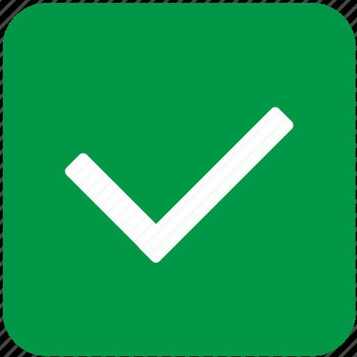 accept, app, green, mobile, ok icon